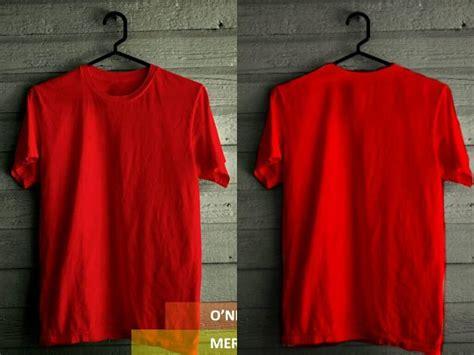 Kaos Polos Warna Merah Maroon kaos polos warna warni tinggal desain sendiri julio