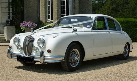 wedding car watford jaguar mk2 white jaguar mk2 for weddings in watford