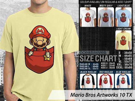Kaos Mario Bross Mario Artworks 04 kaos klasik mario kaos mario kaos