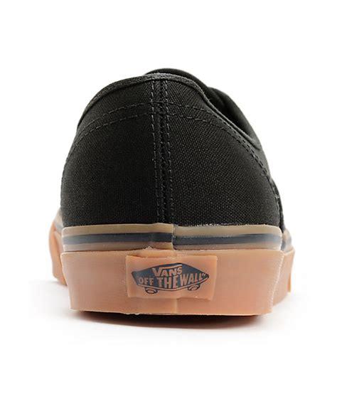 Vans Authentic Blackgum vans authentic black gum skate shoes zumiez ca
