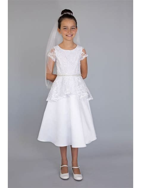 Litle Flower Peplum By Vamosh 13 best lace communion dress style 8011 images on dress in dress lace and
