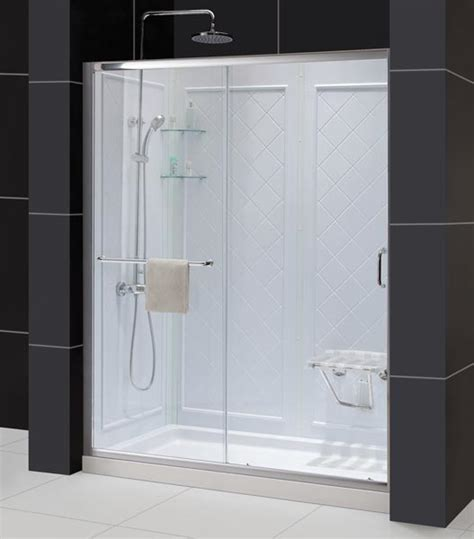 Infinity Shower Door Dreamline Showers Infinity Z Sliding Shower Door