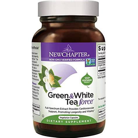 White Label Detox Tea by New Chapter Green White Tea 60 Vegetarian Capsules