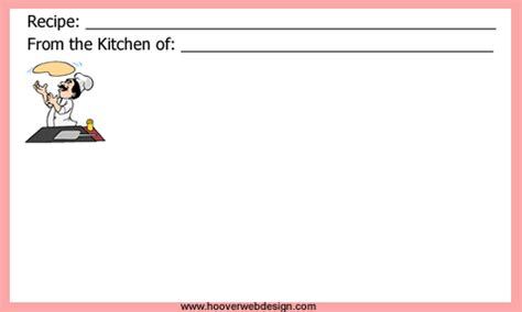 page from the kitchen of recipe card template free printable blank recipe cards templates