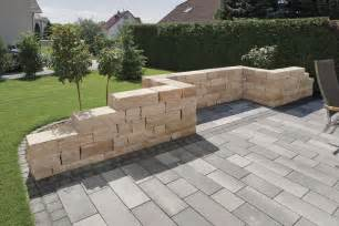 betonsteine garten toskana mauer rinn betonsteine und natursteine