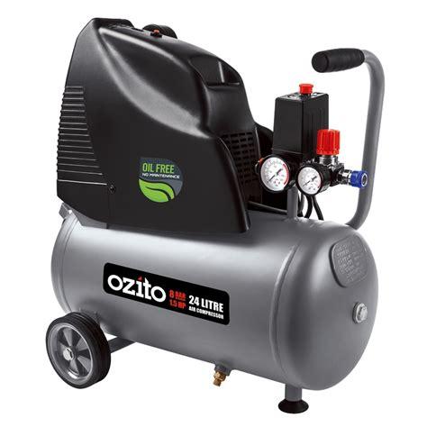 ozito 24l 1 5hp free air compressor bunnings warehouse