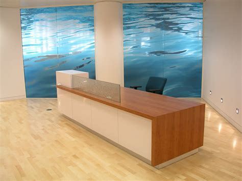 Reception Desk Screen Mayline Napoli 87 Quot Reception Reception Desk Screen