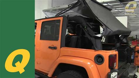jeep wrangler unlimited soft top installation quadratec replacement soft top on jeep wrangler jku 2010