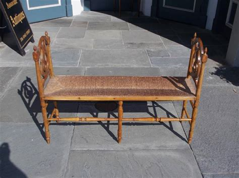 window benches for sale french cherry lyre back window bench circa 1830 for sale