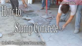 youtube pattern concrete how to st concrete stone pattern youtube