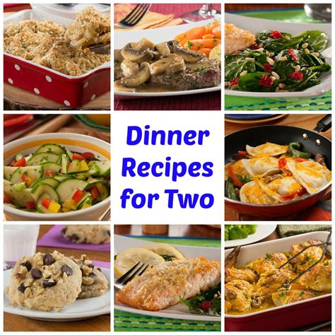 dinner recipes 64 easy dinner recipes for two mrfood