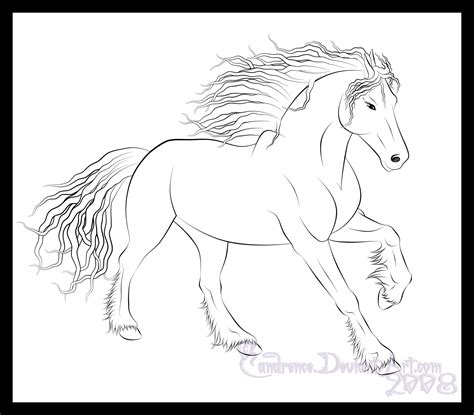 coloring pages of friesian horses friesian lineart by candrence on deviantart