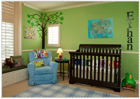 Green Nursery Decor Fascinating Nursery Ideas Green In Bedroom Design Green Nursery With Nature Theme From