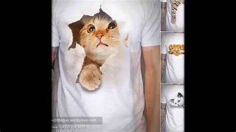 t shirt kaos 3d airphone jual kaos 3d gambar kucing kaos 3d umakuka cat 3d t