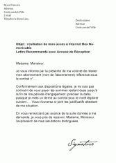 Lettre De Résiliation Voo Mod 232 Les De Lettres De R 233 Siliation Pour R 233 Silier Un Contrat