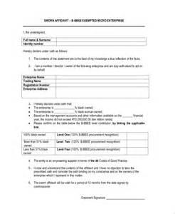 affidavit form template doc 7301000 blank affidavit form affidavit form