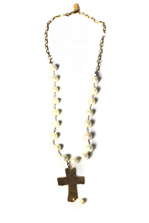lula n bead cross necklace from kentucky by