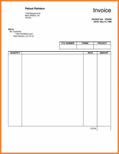 free contractor invoice free construction proposal template