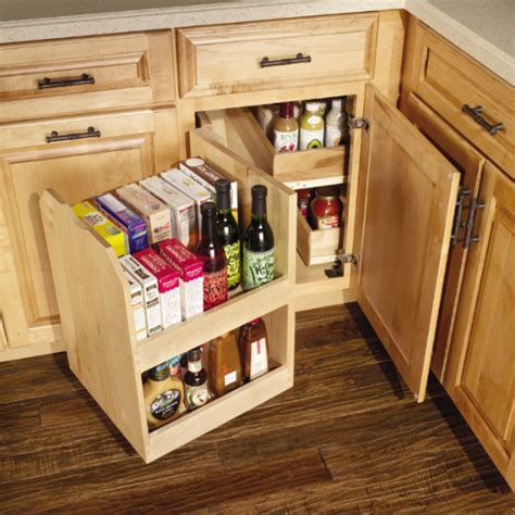 Blind Cabinet Storage Solutions by Base Blind Corner With Swing Out To Get Max Use Out Of