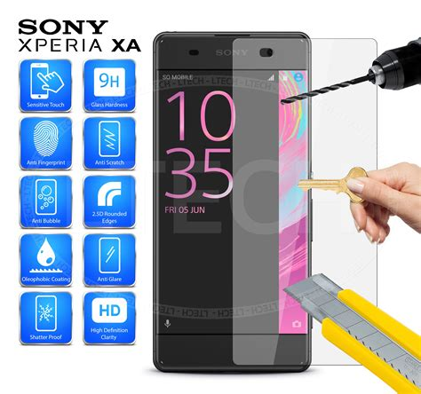 Sony Experia E4 Tempered Glass Protection Screen 033mm T0210 3 sony xperia xa anti scratch clear hd tempered glass