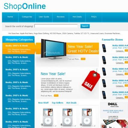 template toko online gratis untuk website toko online template biru free website templates download