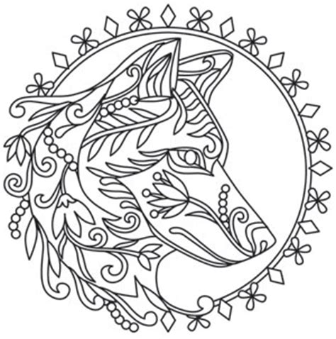 geometric wolf coloring pages grow wild wolf urban threads unique and awesome