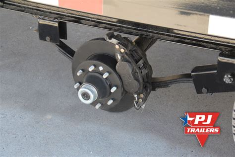 boat trailer axles with electric brakes pj trailers hydraulic disc trailer brakes