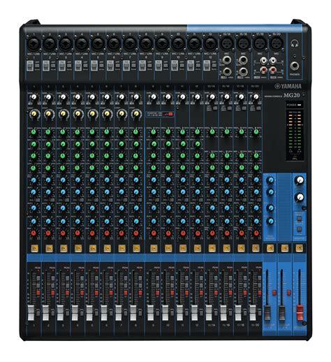 Mixer Yamaha 12 Channel Bekas yamaha mg20 20 channel mixer with compression worldmusic usa