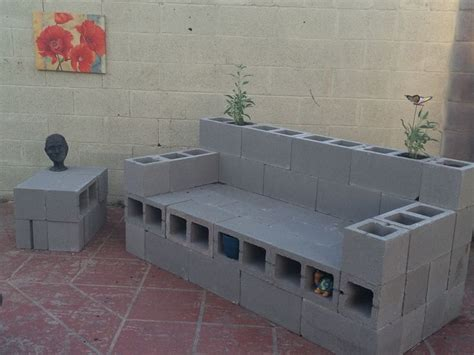 cinder block couch cinderblock couch not done but the backyard is getting