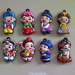 Magnettempelan Kulkas Souvenir Afrika jual souvenir 1 set magnet kulkas korea