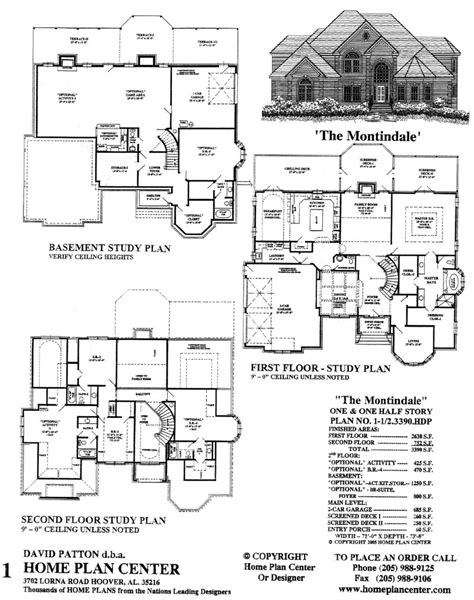 Basement House Floor Plans Home Plan Center 1 1 2 3390 Montindale
