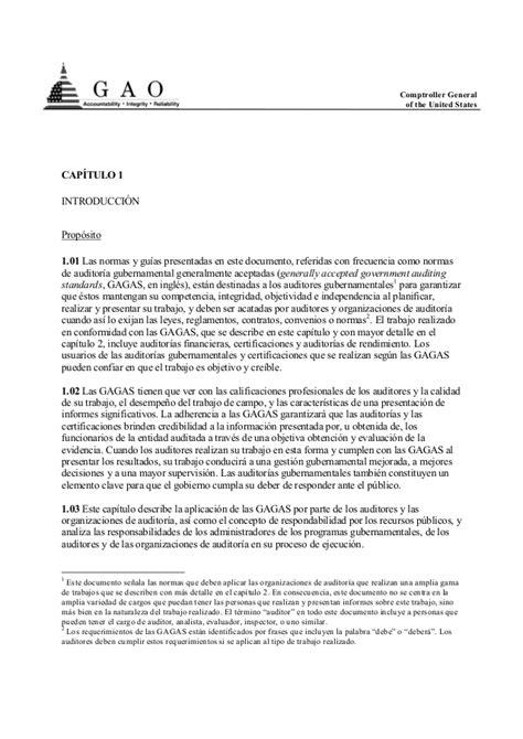 ley de normas justas de trabajo united states department normas de auditor 237 a gubernamental de la oficina de