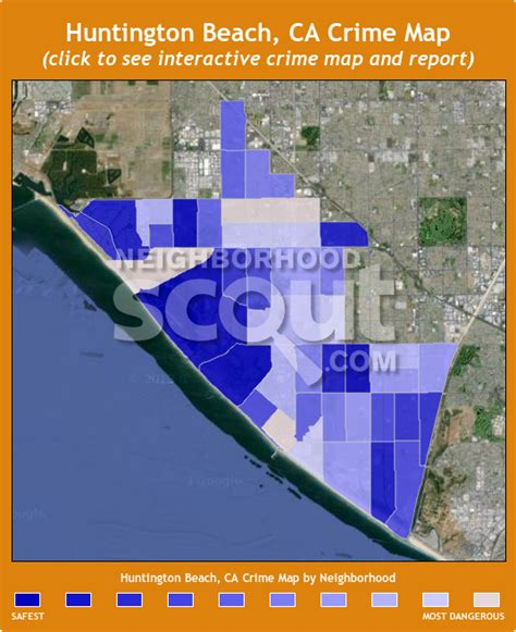 zip code map huntington beach ca huntington beach crime rates and statistics
