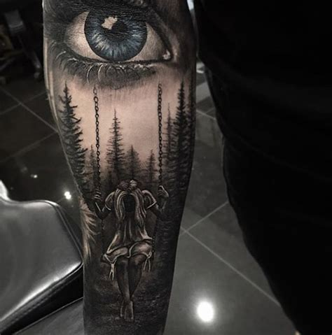on swing trees and realistic eye best tattoo