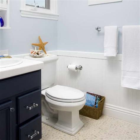 Wainscoting In Small Bathroom bloombety wainscoting in bathroom ideas with pale blue