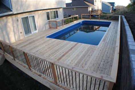 wood pool decks wood decks fiberglass pools wood decks