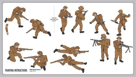 Plastikteile Lackieren Anleitung by Airfix 1 32 Wwii British Infantry Multipose Starter Set