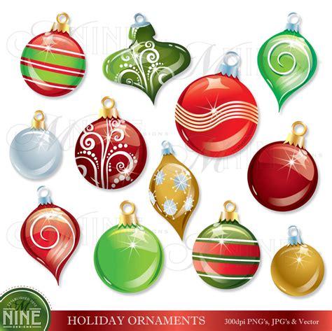 CHRISTMAS ORNAMENTS Clip Art: HOLIDAY Clipart Instant Free Christmas Ornaments Clip Art