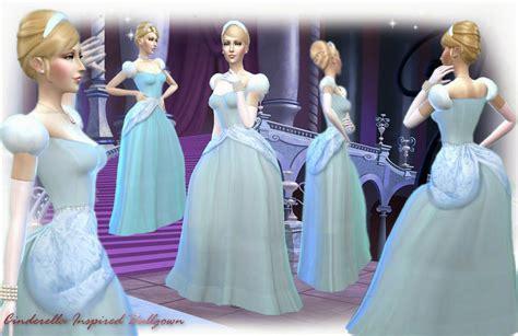 Dress Ola White Fit L Cc mythical dreams sims 4 cinderella inspired ballgown