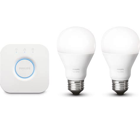 Wireless Led Light Bulbs Buy Philips Hue White Wireless Bulbs Starter Kit E27 Free Delivery Currys