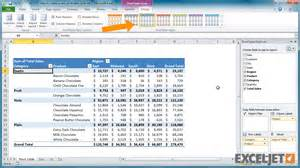 excel tutorial how to create a new pivot table style