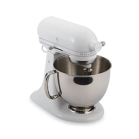 kitchenaid bed bath and beyond buy kitchenaid 174 artisan 174 5 qt stand mixer in white white