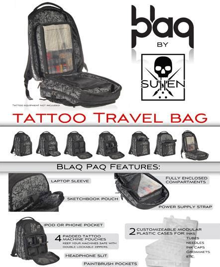 blaq paq tattoo travel bag by sullen