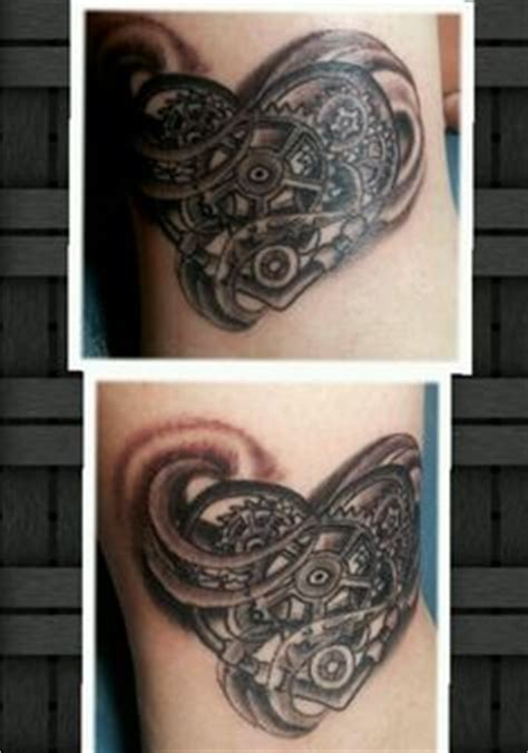 koi tattoo barrie clockwork heart and angel wings tattoos pinterest