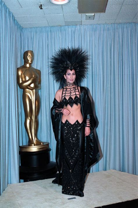 cher through the years photos abc news cher in bob mackie picture best oscar dresses through