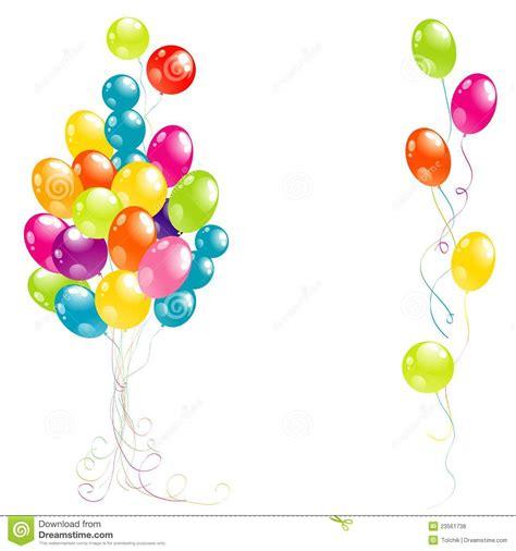 imagenes animadas a color globos hermosos del partido del color fotos de archivo