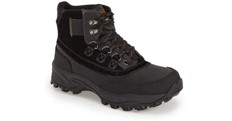 dunham waterproof hiking boot in black for lyst