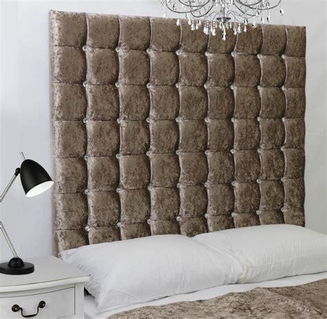 Beds With Diamante Headboard monaco high diamante buttoned bed headboard crush velvet