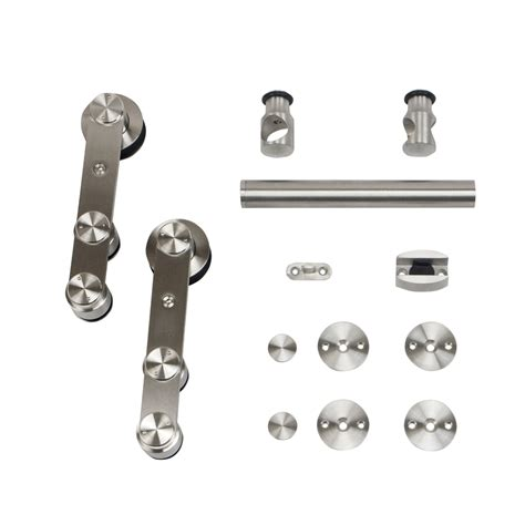 Shop Stainless Glide 78 75 In Stainless Steel Side Mount Glide Barn Door Hardware