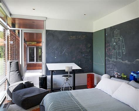 bedroom chalkboard wall 35 bedrooms that revel in the beauty of chalkboard paint